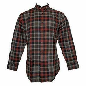 Pendleton Men's Landry  Flannel Shirt Grey Red XL
